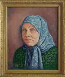 Портрет пожилой женщины выполненный